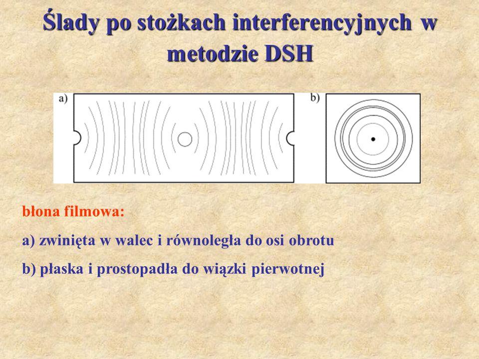 Ślady po stożkach interferencyjnych w metodzie DSH
