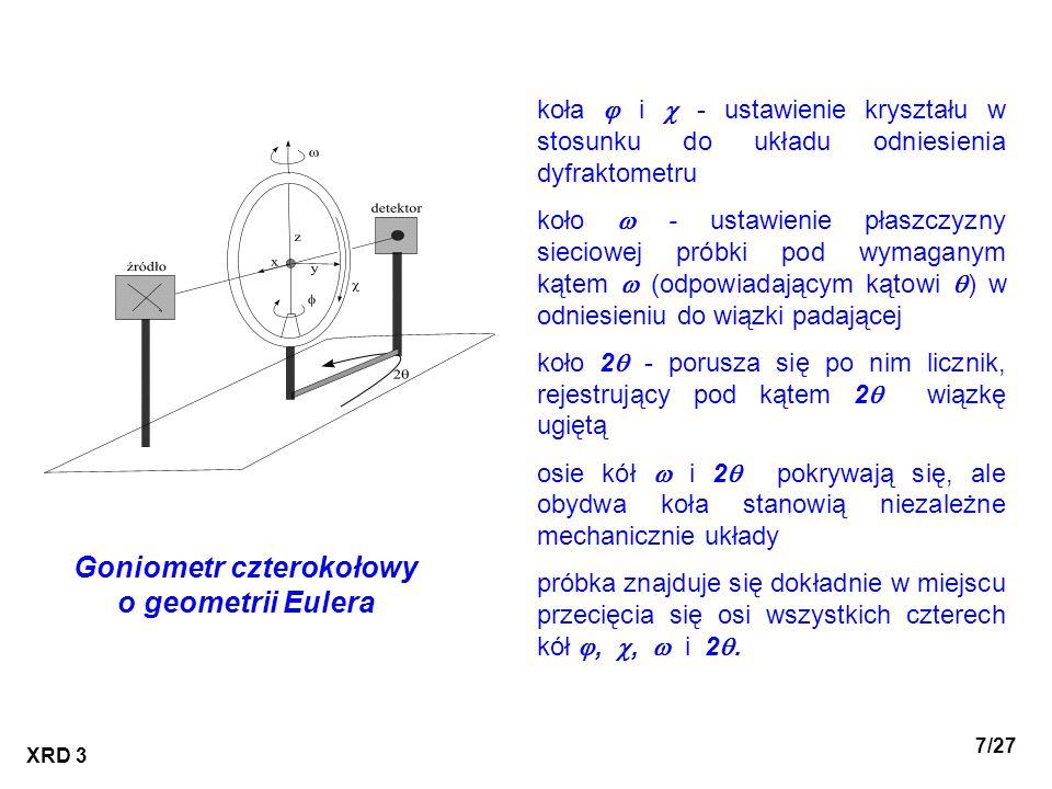 Goniometr czterokołowy o geometrii Eulera
