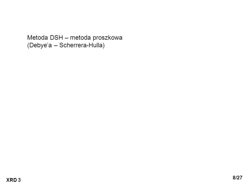 Metoda DSH – metoda proszkowa (Debye'a – Scherrera-Hulla)