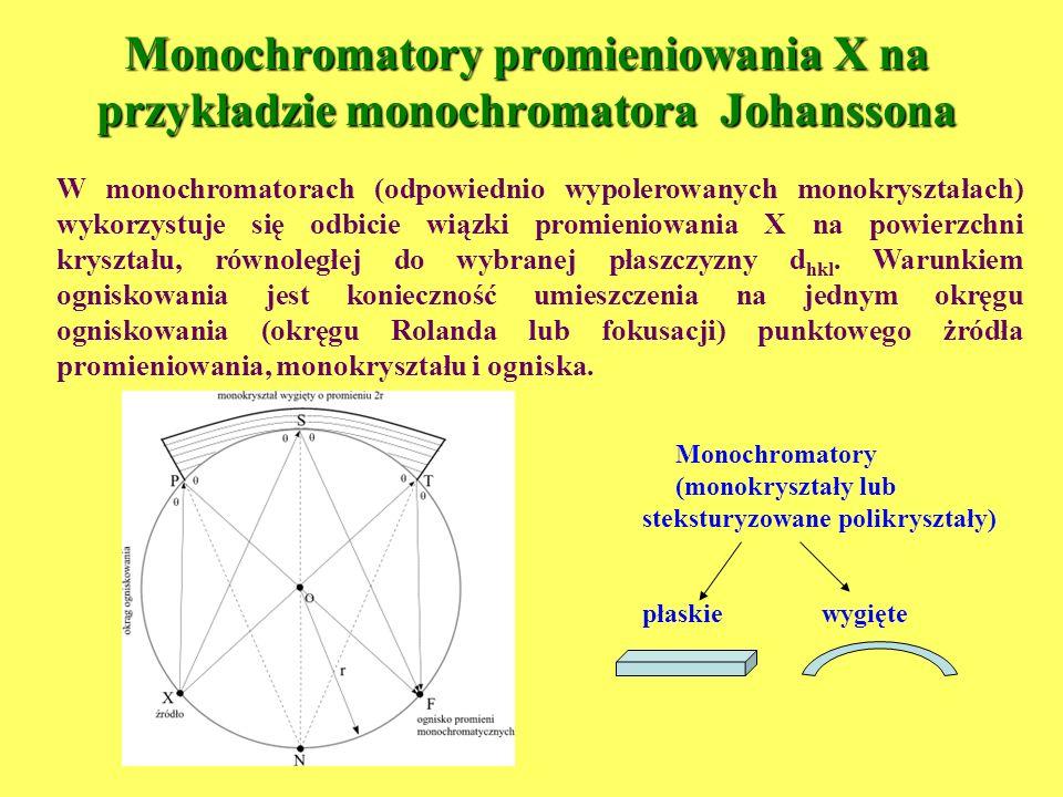 Monochromatory promieniowania X na przykładzie monochromatora Johanssona