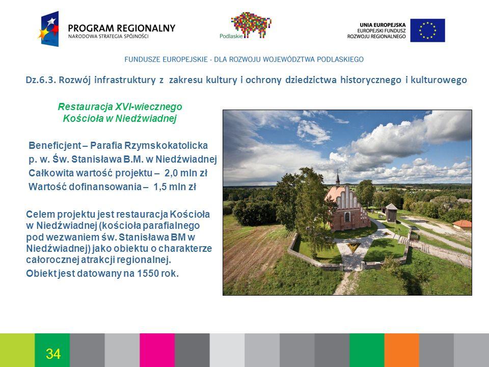 2017-03-26 Dz.6.3. Rozwój infrastruktury z zakresu kultury i ochrony dziedzictwa historycznego i kulturowego.