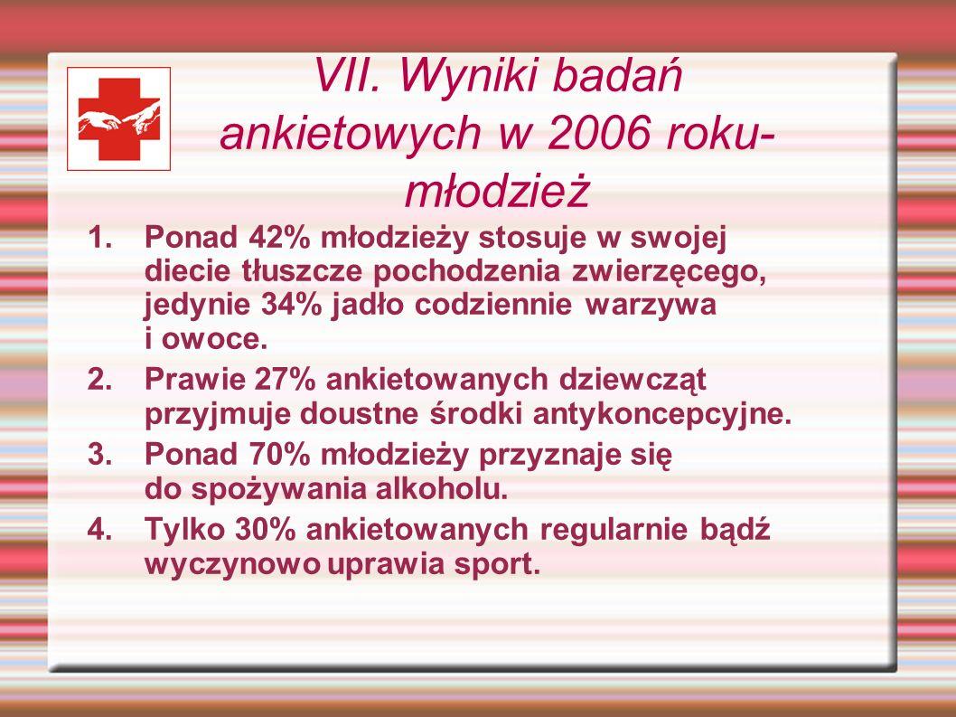 VII. Wyniki badań ankietowych w 2006 roku-młodzież