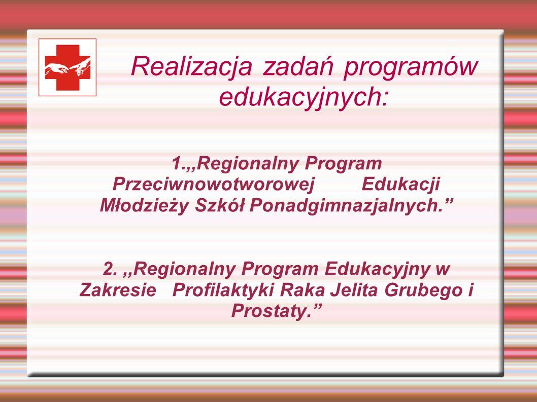 Realizacja zadań programów edukacyjnych: