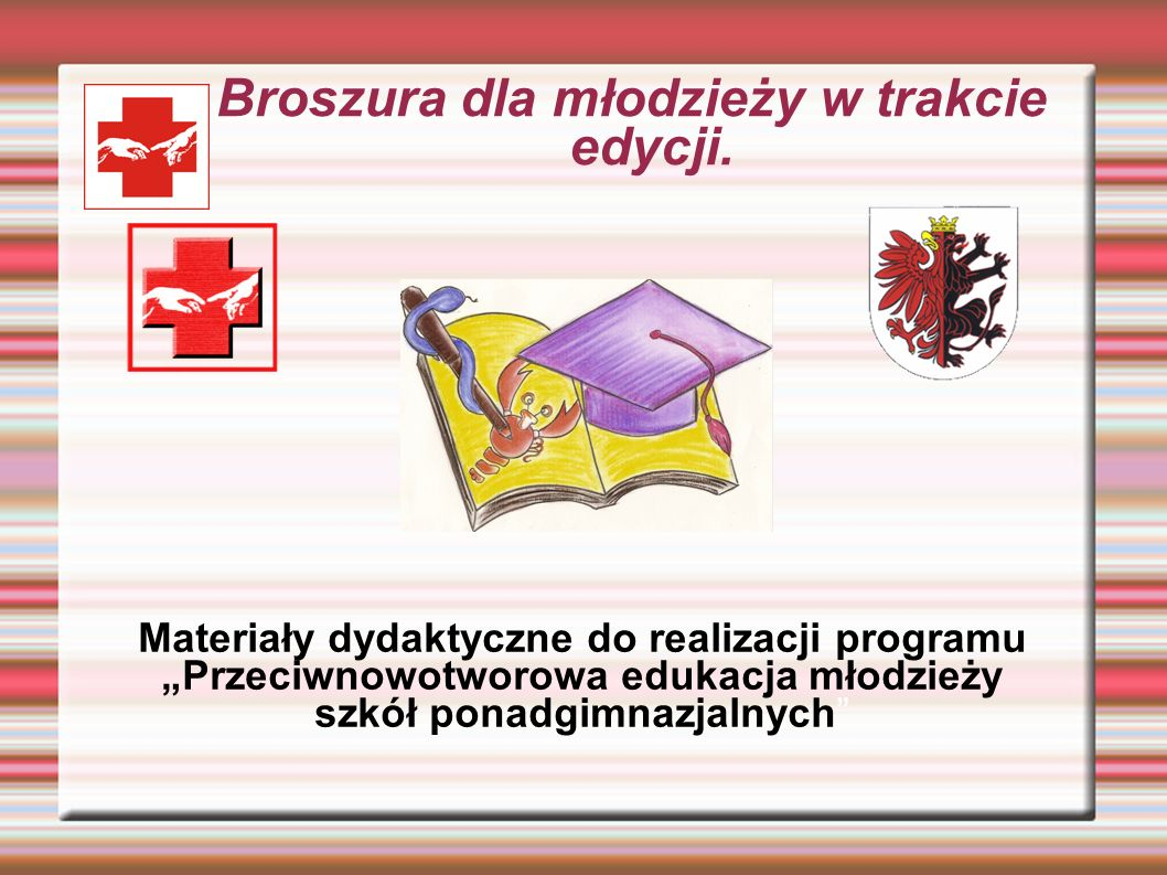 Broszura dla młodzieży w trakcie edycji.