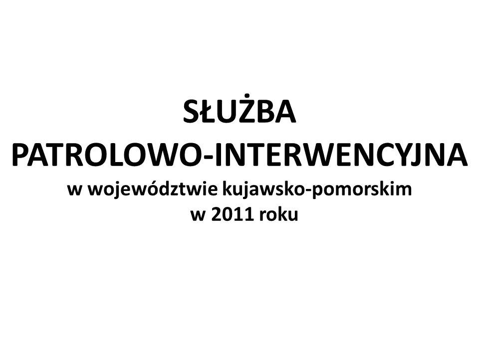 SŁUŻBA PATROLOWO-INTERWENCYJNA w województwie kujawsko-pomorskim w 2011 roku