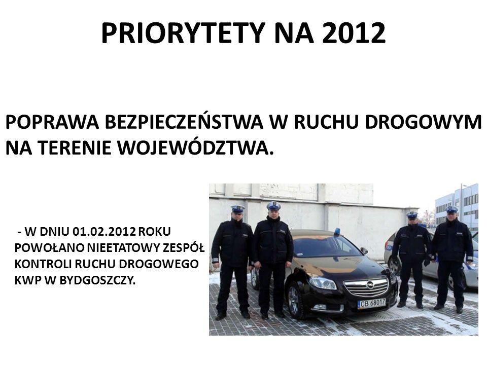 PRIORYTETY NA 2012 POPRAWA BEZPIECZEŃSTWA W RUCHU DROGOWYM NA TERENIE WOJEWÓDZTWA. - W DNIU 01.02.2012 ROKU.