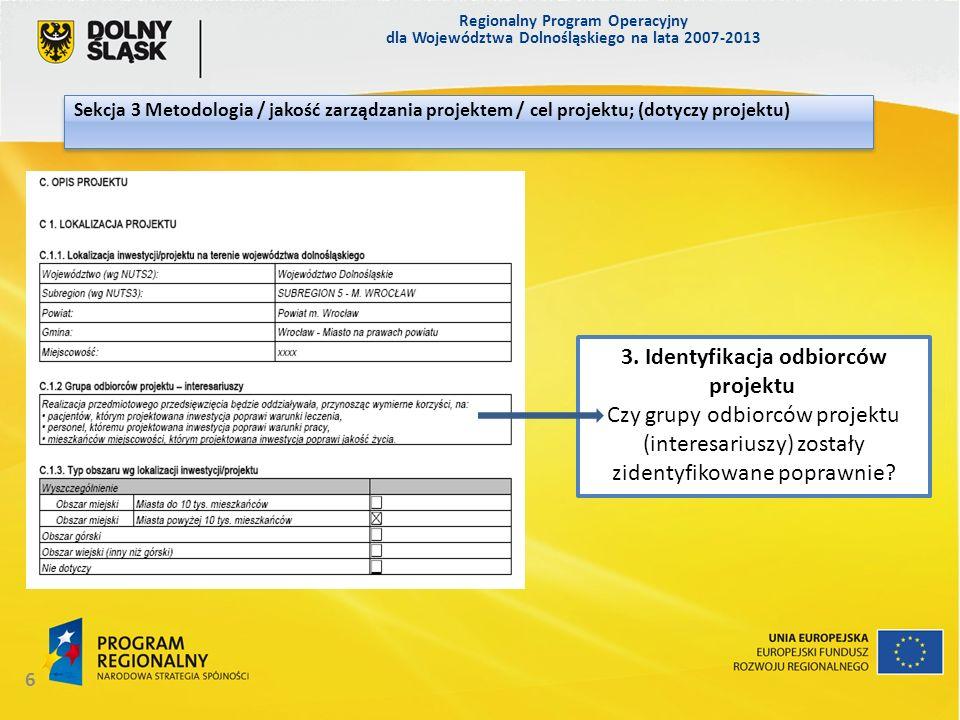 3. Identyfikacja odbiorców projektu