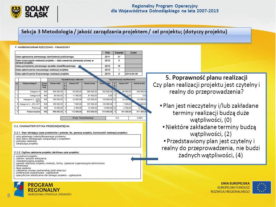 5. Poprawność planu realizacji