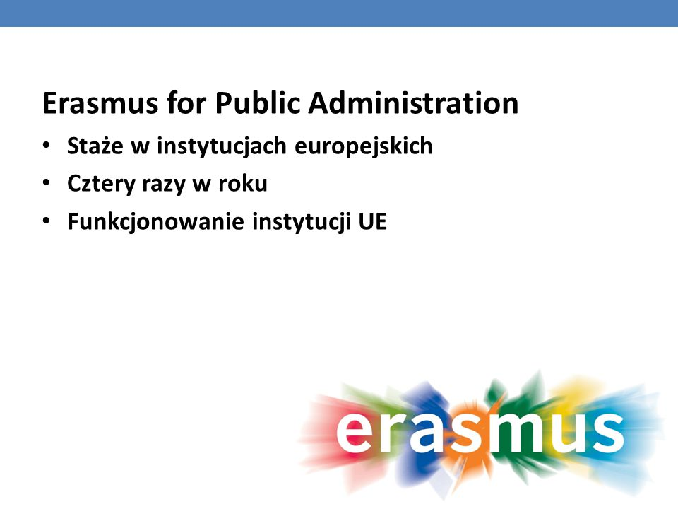 Erasmus for Public Administration