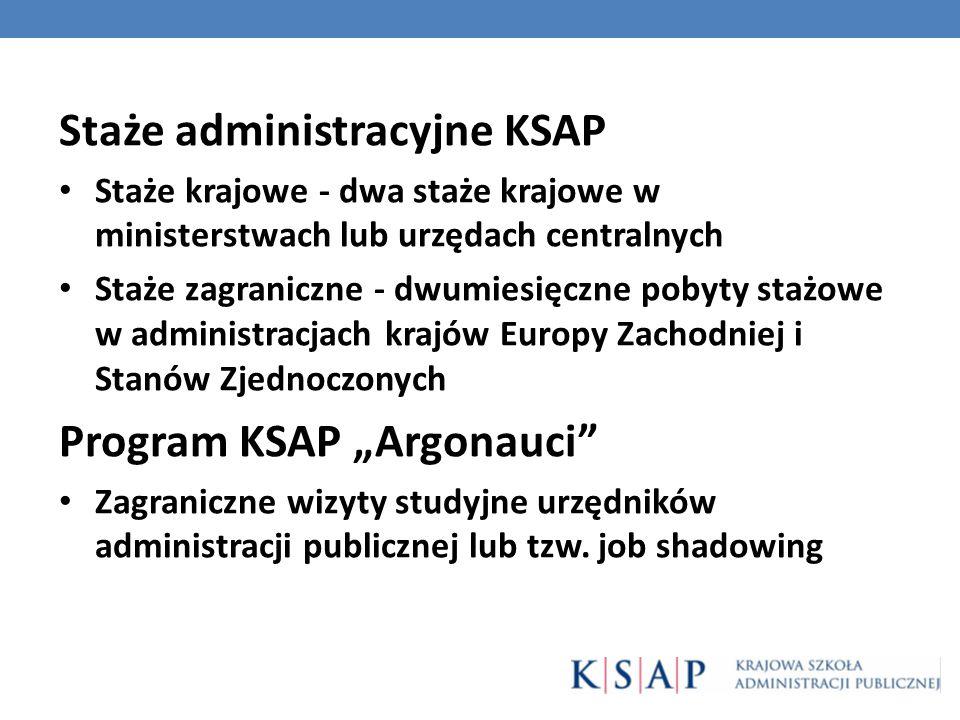 Staże administracyjne KSAP