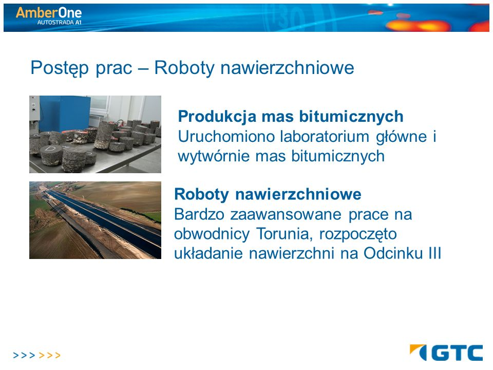Postęp prac – Roboty nawierzchniowe