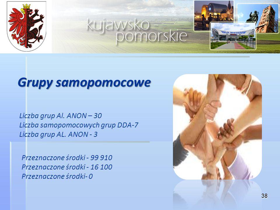 Grupy samopomocowe Liczba grup Al. ANON – 30