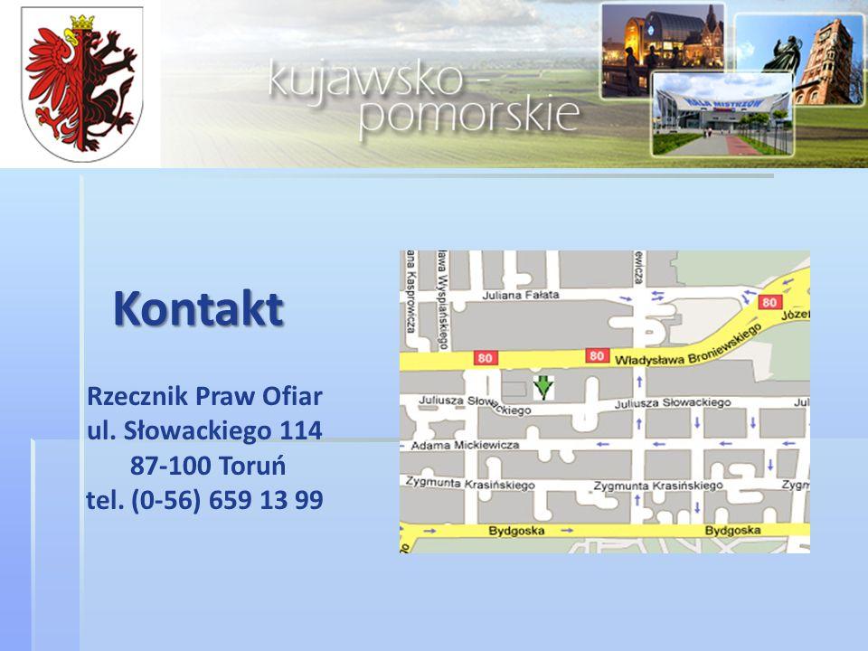 Kontakt Rzecznik Praw Ofiar ul. Słowackiego 114 87-100 Toruń