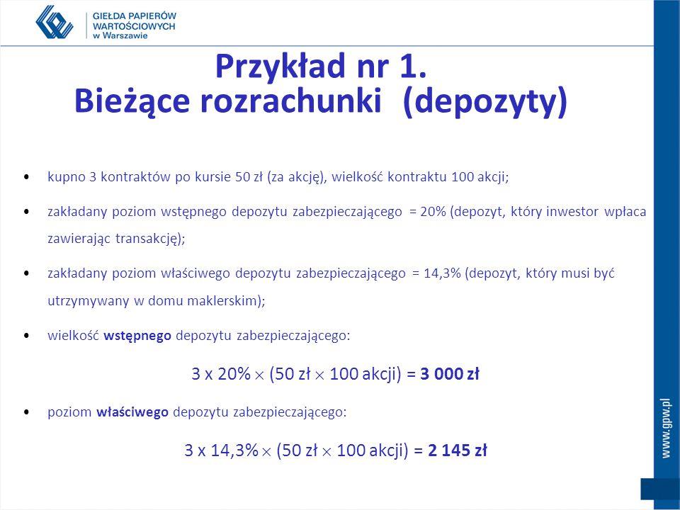 Przykład nr 1. Bieżące rozrachunki (depozyty)