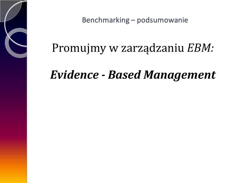 Promujmy w zarządzaniu EBM: Evidence - Based Management