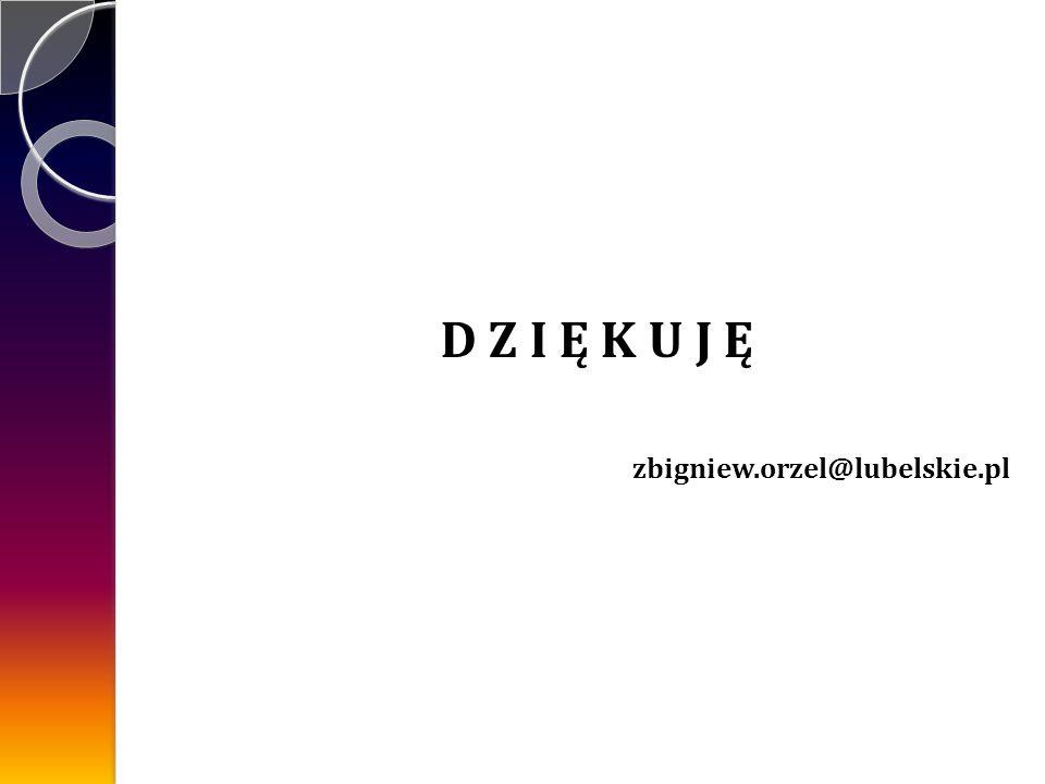 D Z I Ę K U J Ę zbigniew.orzel@lubelskie.pl