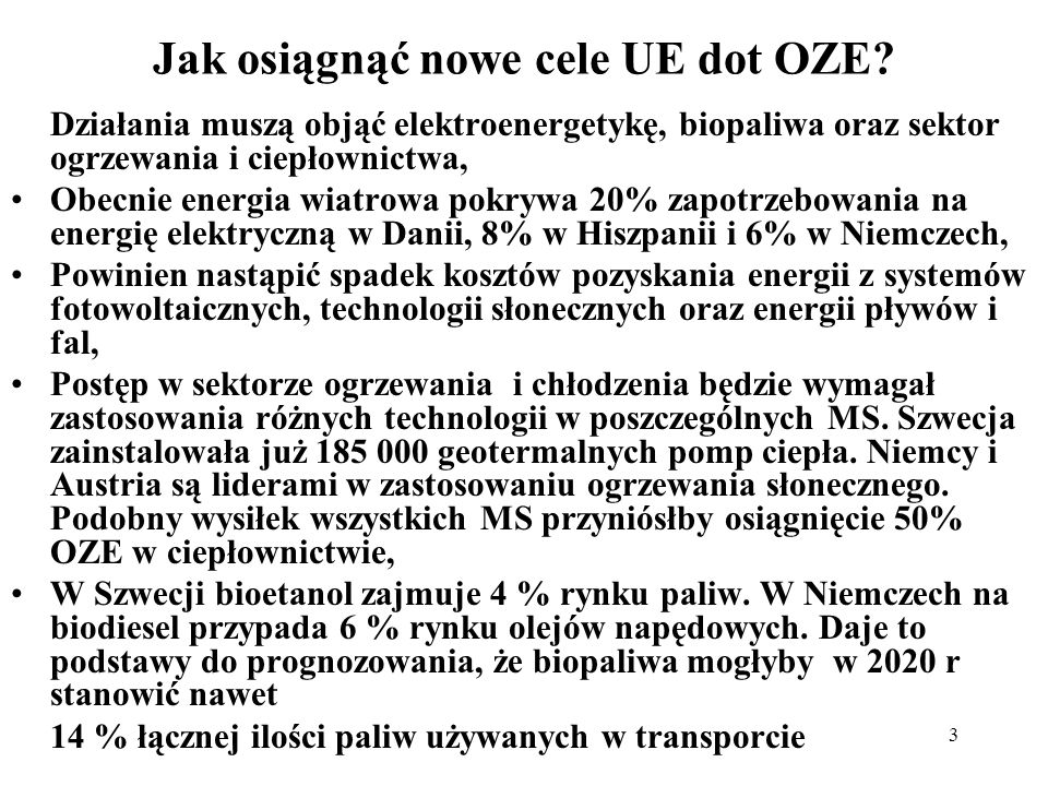 Jak osiągnąć nowe cele UE dot OZE