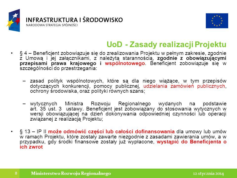 UoD - Zasady realizacji Projektu