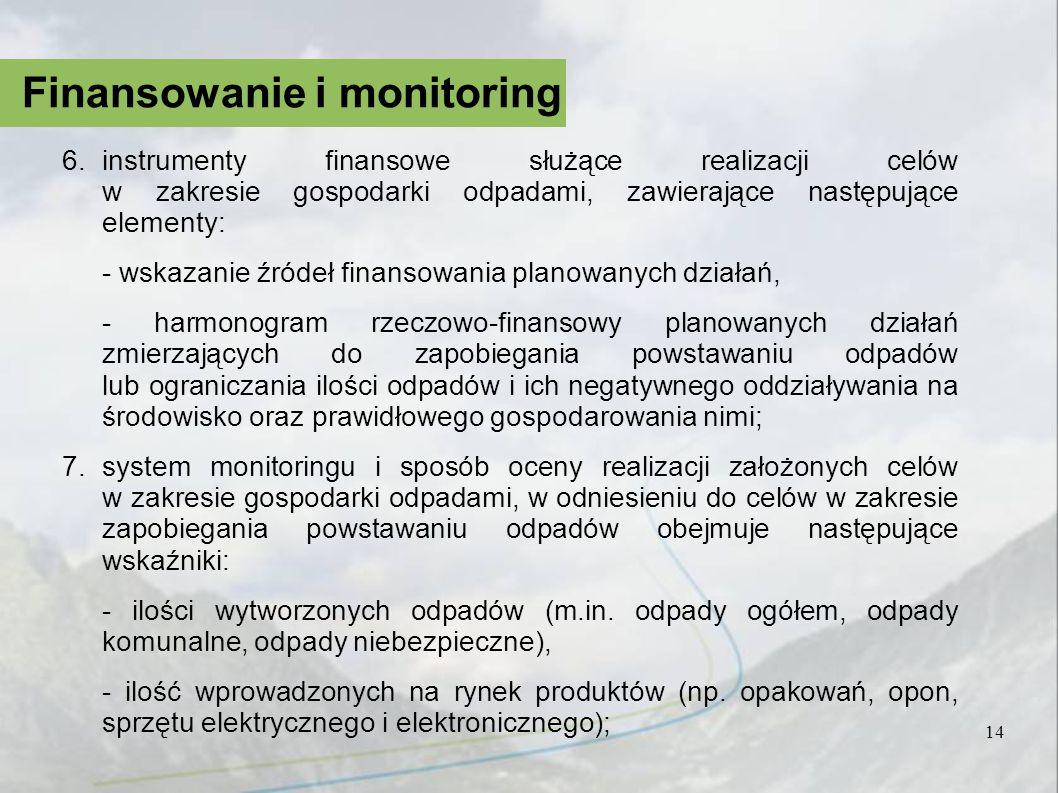Finansowanie i monitoring