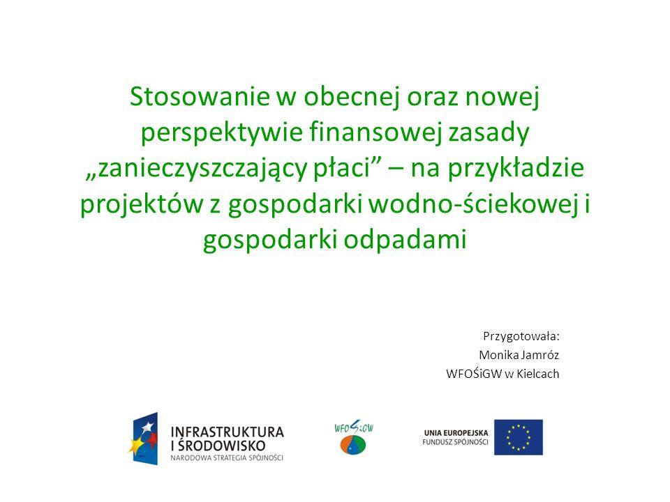 Przygotowała: Monika Jamróz WFOŚiGW w Kielcach