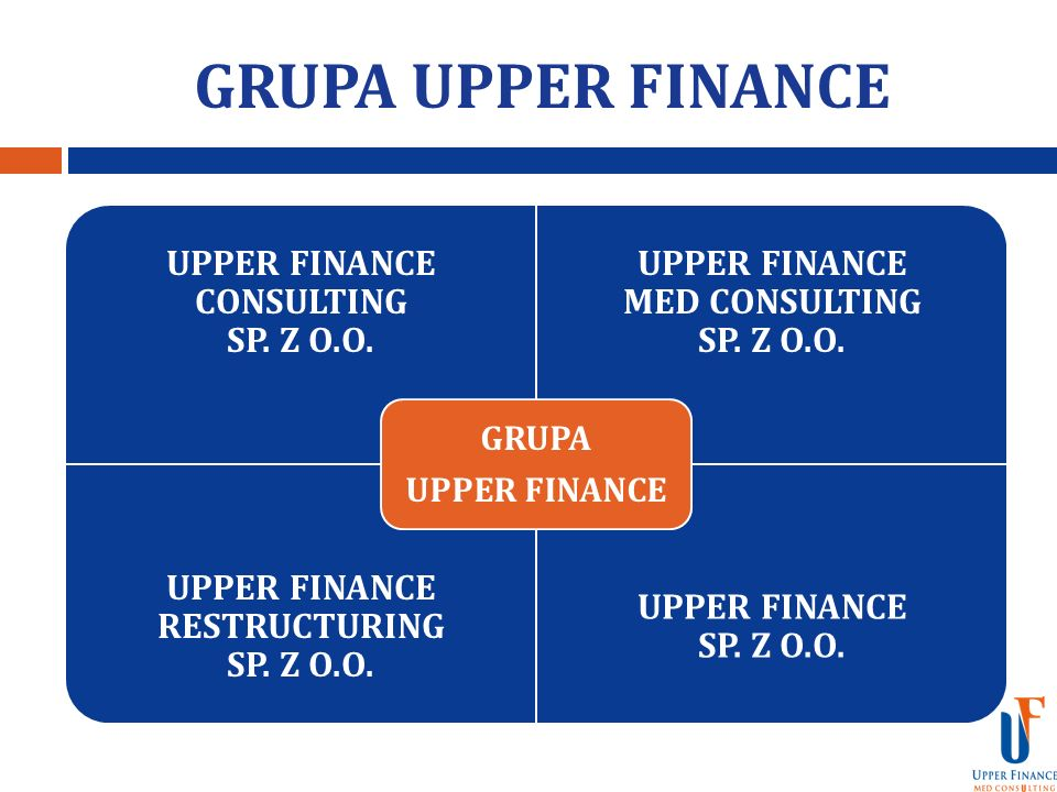 GRUPA UPPER FINANCE UPPER FINANCE CONSULTING SP. Z O.O.