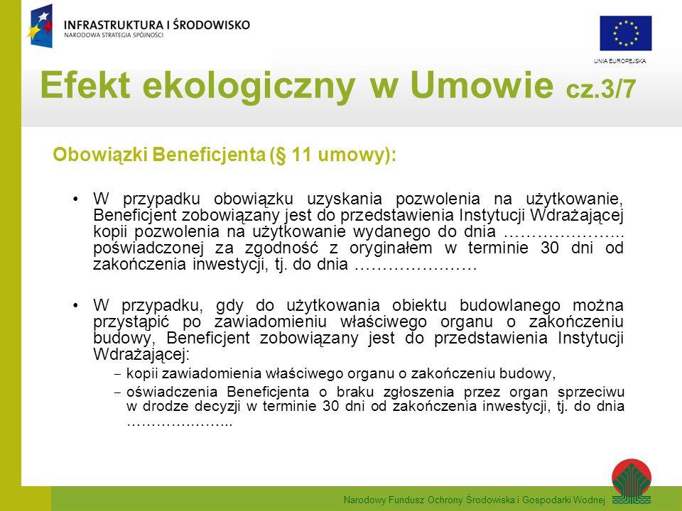 Efekt ekologiczny w Umowie cz.3/7