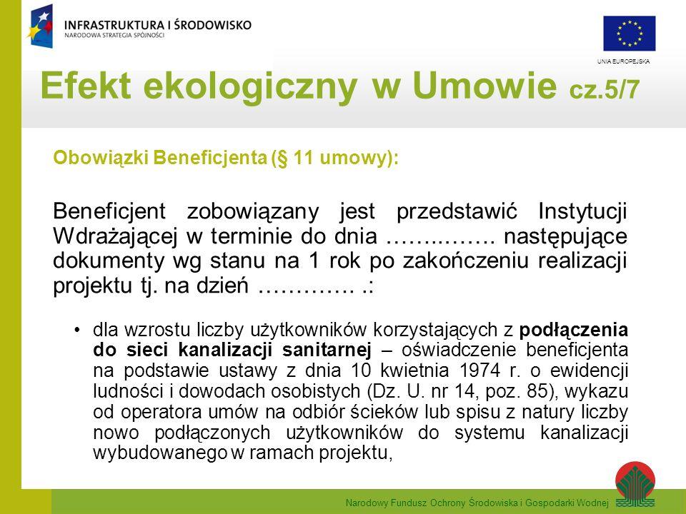 Efekt ekologiczny w Umowie cz.5/7