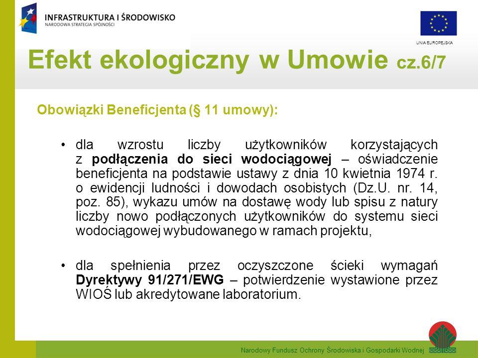Efekt ekologiczny w Umowie cz.6/7