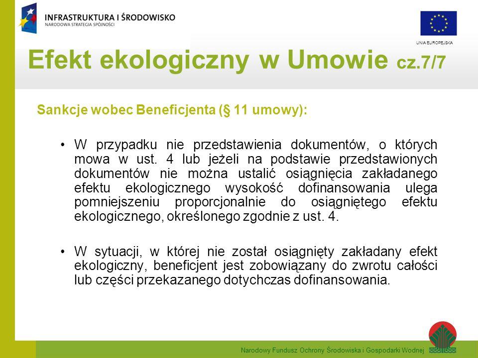 Efekt ekologiczny w Umowie cz.7/7