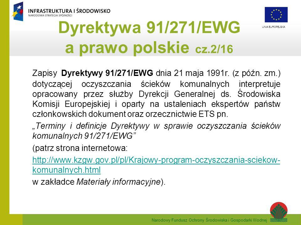 Dyrektywa 91/271/EWG a prawo polskie cz.2/16