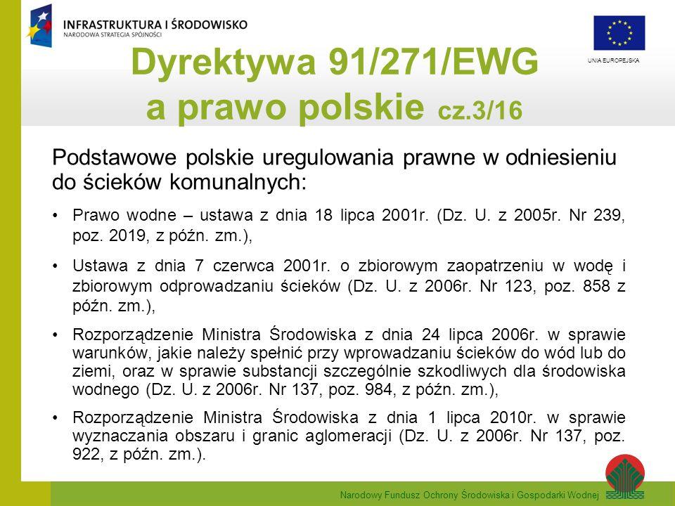 Dyrektywa 91/271/EWG a prawo polskie cz.3/16