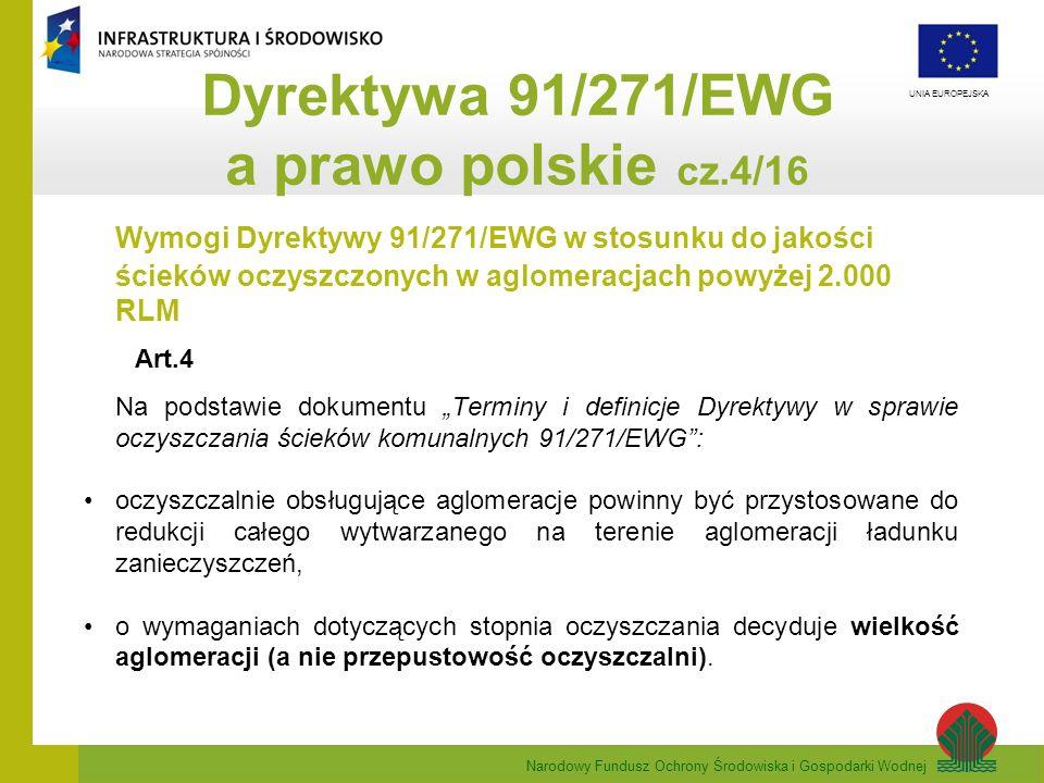 Dyrektywa 91/271/EWG a prawo polskie cz.4/16
