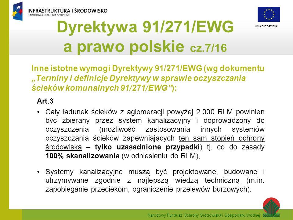 Dyrektywa 91/271/EWG a prawo polskie cz.7/16