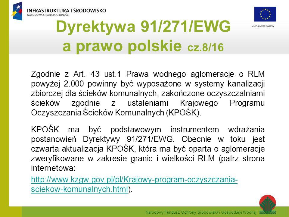 Dyrektywa 91/271/EWG a prawo polskie cz.8/16