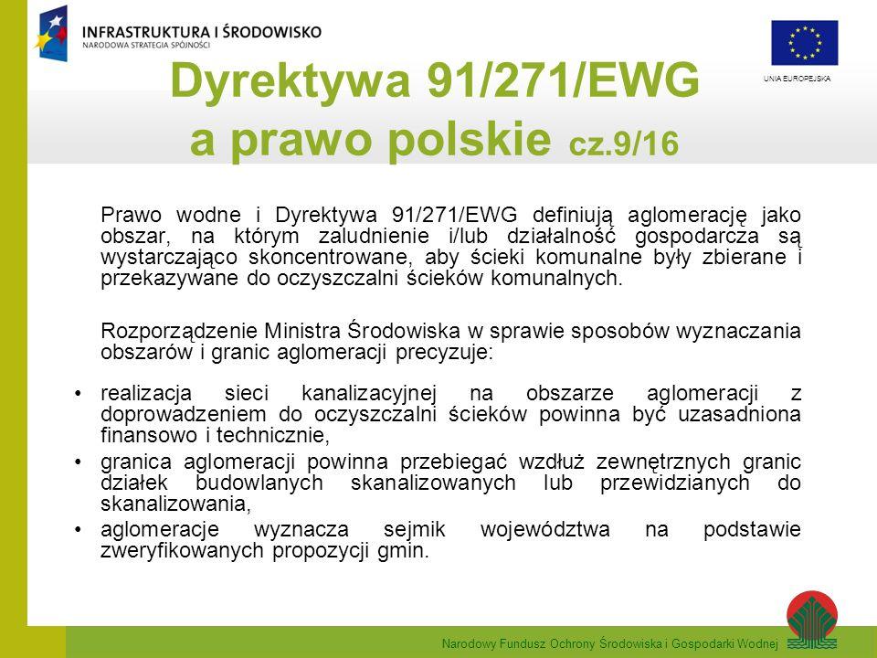 Dyrektywa 91/271/EWG a prawo polskie cz.9/16