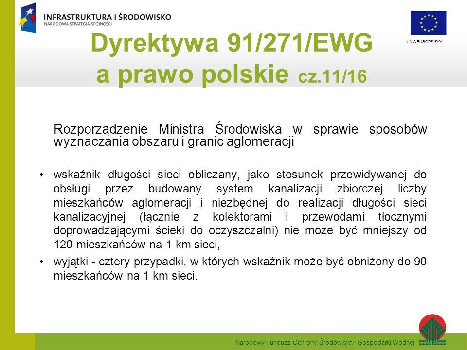 Dyrektywa 91/271/EWG a prawo polskie cz.11/16