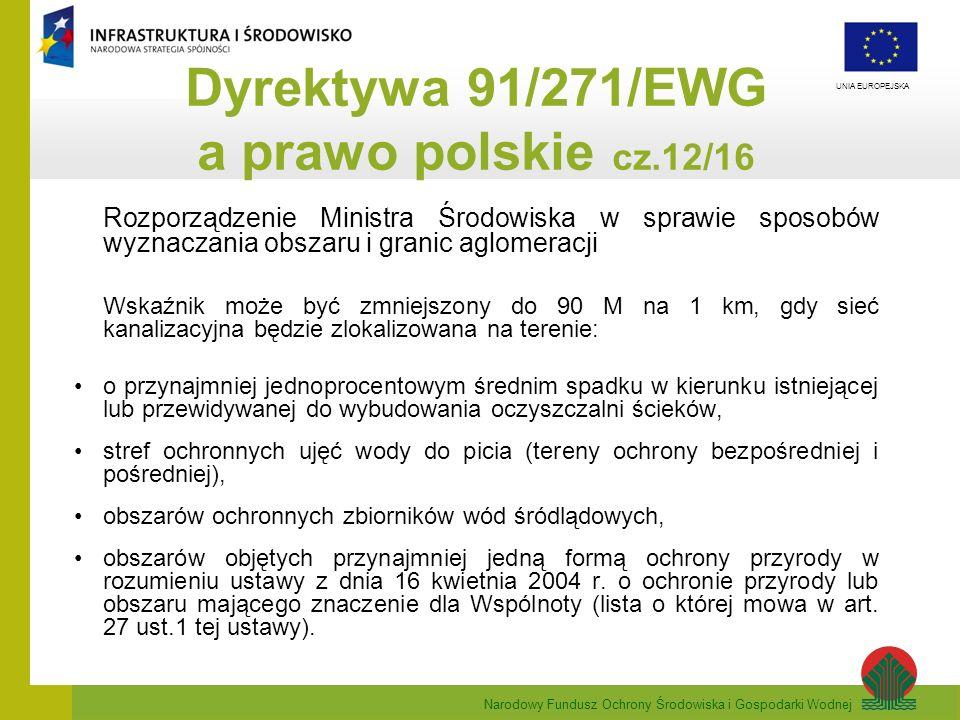 Dyrektywa 91/271/EWG a prawo polskie cz.12/16