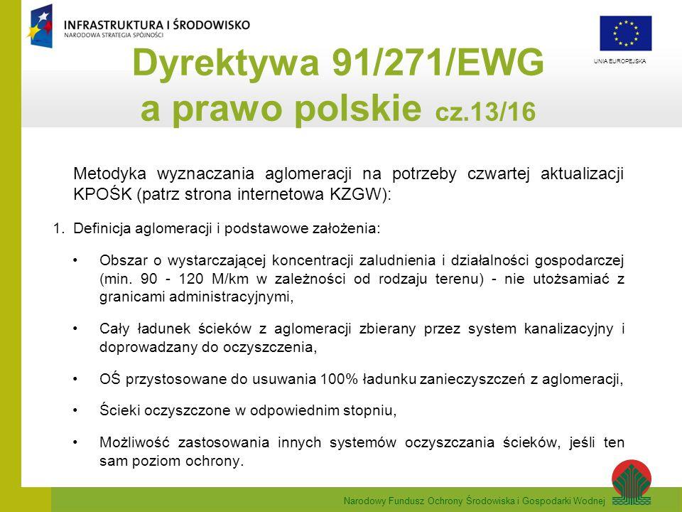 Dyrektywa 91/271/EWG a prawo polskie cz.13/16