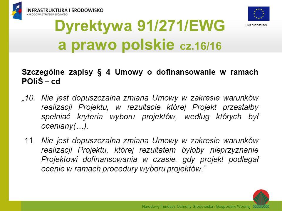 Dyrektywa 91/271/EWG a prawo polskie cz.16/16