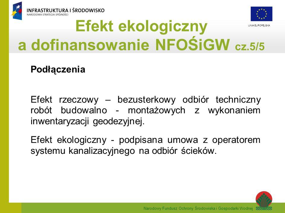 Efekt ekologiczny a dofinansowanie NFOŚiGW cz.5/5