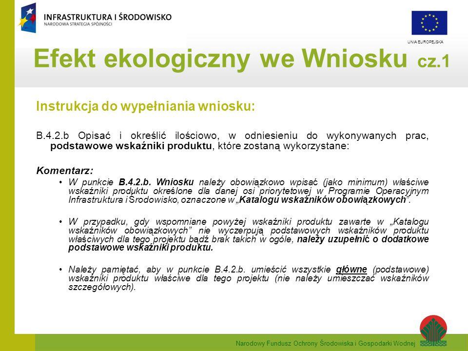 Efekt ekologiczny we Wniosku cz.1