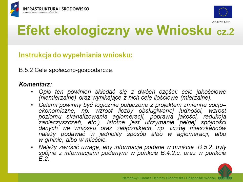 Efekt ekologiczny we Wniosku cz.2