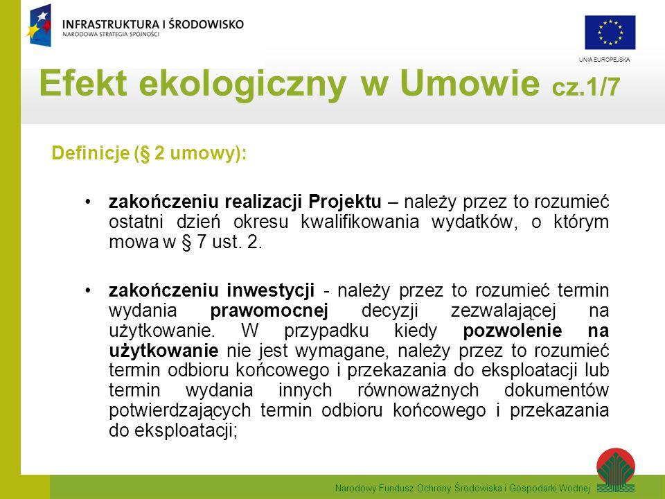 Efekt ekologiczny w Umowie cz.1/7