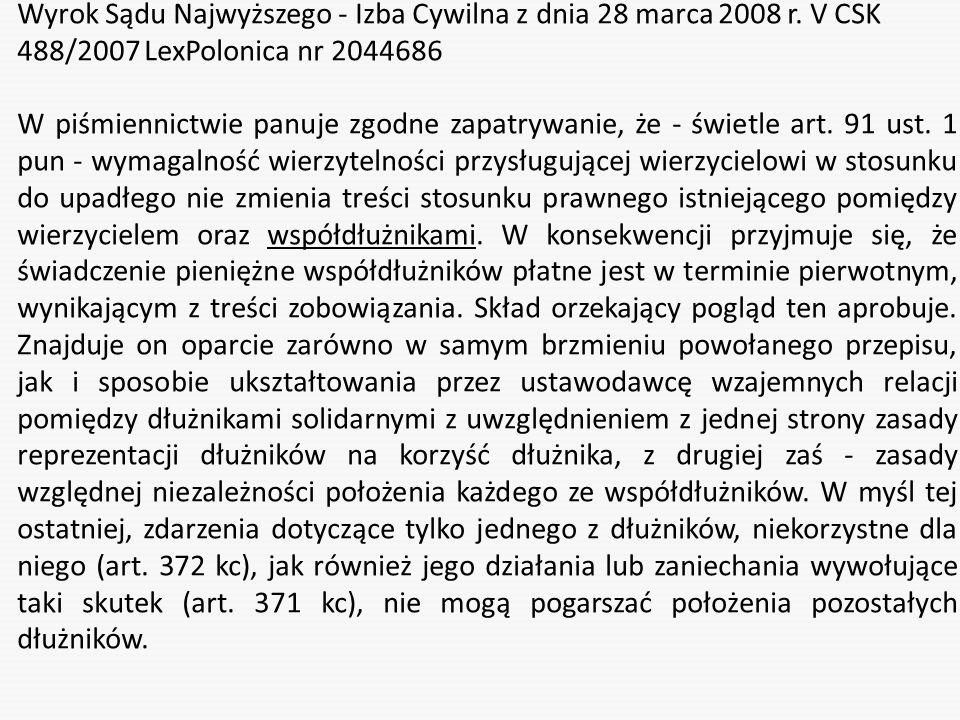 Wyrok Sądu Najwyższego - Izba Cywilna z dnia 28 marca 2008 r