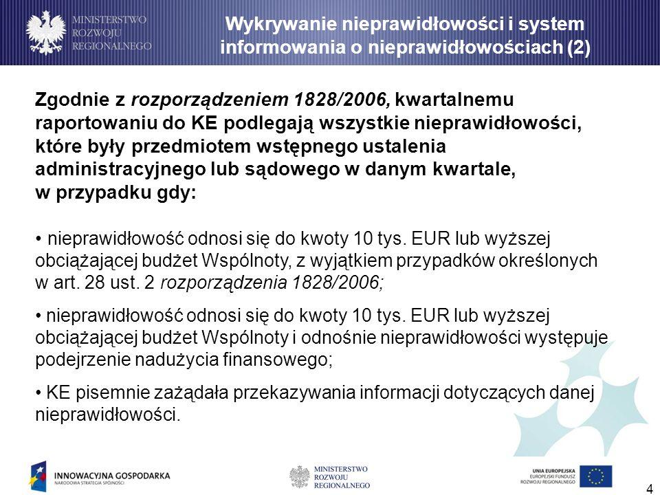 Wykrywanie nieprawidłowości i system informowania o nieprawidłowościach (2)