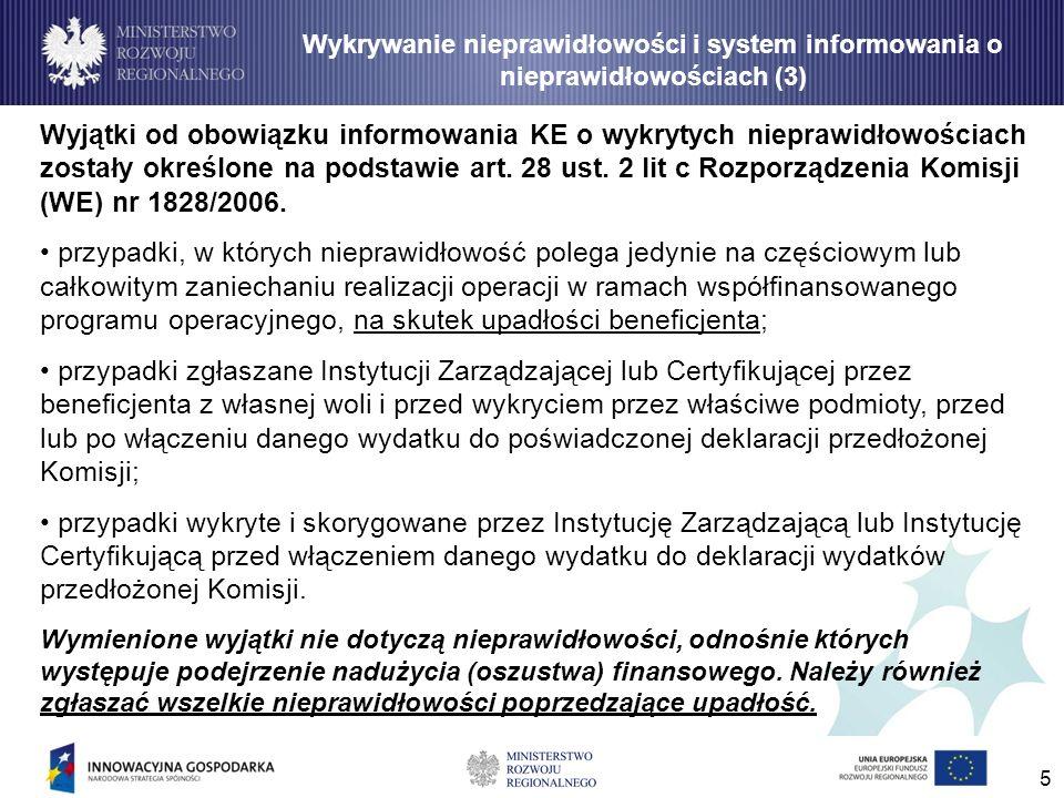 Wykrywanie nieprawidłowości i system informowania o nieprawidłowościach (3)