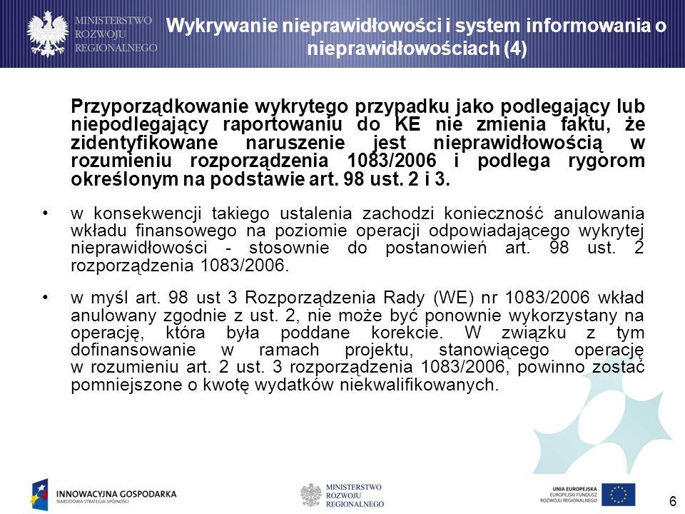 Wykrywanie nieprawidłowości i system informowania o nieprawidłowościach (4)