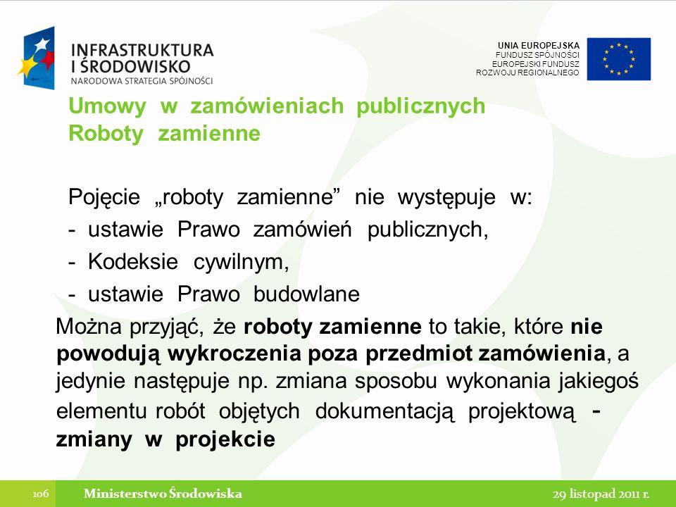 Umowy w zamówieniach publicznych Roboty zamienne