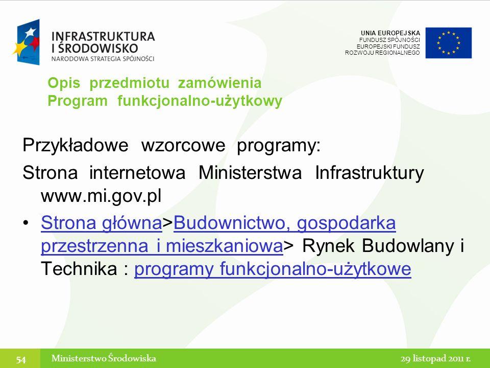 Opis przedmiotu zamówienia Program funkcjonalno-użytkowy