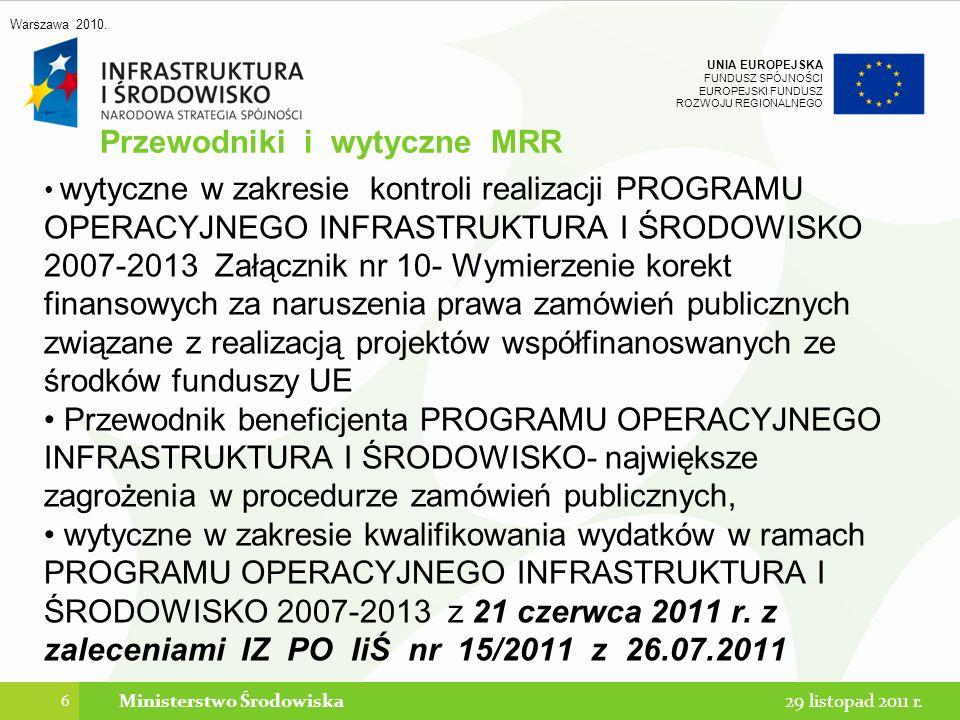 Przewodniki i wytyczne MRR
